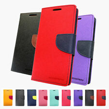 Mercury PU Leather Card Pocket Stand Flip Wallet Case Cover Samsung Note 4 Edge