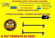 2 COPPIA BIELLETTE BARRA FAST CITROEN C2 C3 DS3 PEUGEOT 206 208 1007 2008