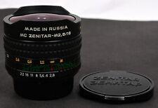 ZENITAR MC 16mm f/2.8 Lente Ojo de Pez para cámaras Nikon -! como Nuevo!
