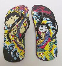 b51963aa30b237 BETTY BOOP Sandals Flip Flops Slippers Slip On Shoes Black w Multi Colors Size  8
