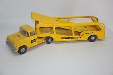 VTG Buddy L Hertz Car Hauler Transporter Truck Pressed Steel Yellow Toy