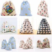 Portable Women Backpacks Print Shopping Bags Drawstring Backpack Travel Shop Bag