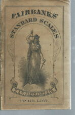 AD-030 - 1892 E & T Fairbanks Standard Scales Price List Illustrated RARE Vintag