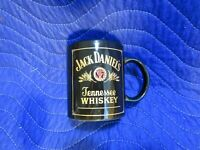 Jack Daniels Old NO. 7 Tennessee Whiskey Coffee Cup Mug Black Gold RARE