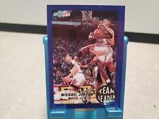 1992-93 Fleer Team Leaders Michael Jordan Basketball Card Chicago Bulls T2703