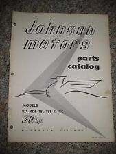 Johnson Outboard Parts Catalog Manual 1961 Sea Horse 30 HP RD RDL-18 18E 18C