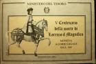 NL*ITALIA 500 LIRE ARGENTO 1992 LORENZO IL MAGNIFICO FDC SET ORIGINALE ZECCA