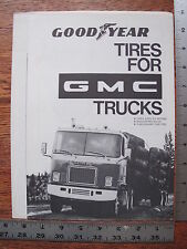 Original Goodyear Tires for 1973 73 GMC Commercial Truck Dealer Sales Brochure