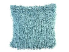 DUCKEGG FAUX MONGOLIAN LARGE FUR CUSHION COVER WITH FAUX SUEDE BACK  60x60cms