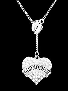 Godmother Necklace Mother's Day Gift Feet Be My Godmother Lariat Jewelry