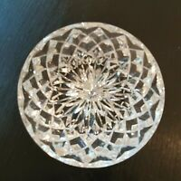 Vintage Cut Glass Clear Paperweight Dome Crystal Art Gift Stocking Stuffer
