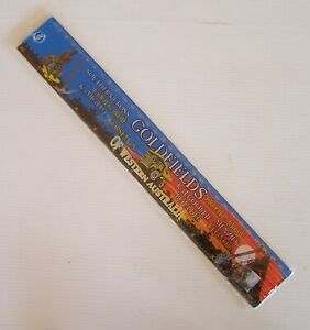 VINTAGE GOLDFIELDS OF WESTERN AUSTRALIA TOWNS ILLUSTRATED PICTURE 30cm RULER