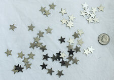 Heavy Duty Silver Metal craft stars 1/2 inch wide- Lot of apprx. 400 pcs