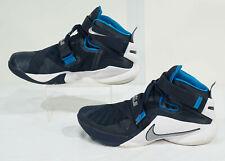 Gently Used Men's LeBron Soldier 9 TB Blue + White Sneaker, Sz. 11