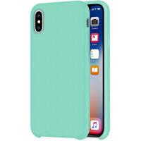 Liquide Étui en Silicone Pour Apple IPHONE Xs Max 6.5 Housse TPU Frehsmint Vert