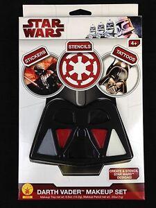 Star Wars Darth Vader Costume Makeup Set Paint Set w/ Stickers Tattoos Stencils