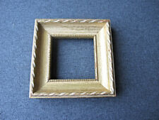Vintage golden decorated gesso wooden miniature picture frame  #2