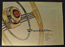 1960 Borgward Isabella Brochure TS DeLuxe Coupe Combi Wagon Nice Original 60