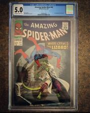 Amazing Spider-man 44 cgc 5.0 marvel 1967 Second Appearance of Lizard