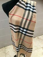 Classic Large Check Scarf Wrap In Various Colours