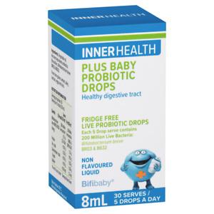 Inner Health Plus Baby Probiotic Drops 8mL (30 Serves) for Babies Fridge Free
