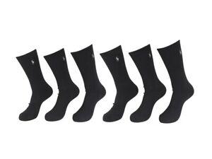 Polo Ralph Lauren Men's 6-Pairs Crew Sport Socks Sz: 10-13 Fits Shoe 6-12.5