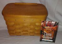 Longaberger 1996 RECIPE Basket with Booklet Recipe 17418