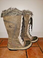 ***RARE Sorel Womens *CATE THE GREAT* Winter Boots Size 5 Grey/Tan EXC COND***