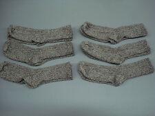NWOT Women's Merino Wool Blend Ribbed Socks Shoe Size 6-9 Brown 6 Pair