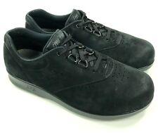 SAS Tripad Free Time Women Black Leather Oxford Comfort Shoes Sz 8 WW Extra Wide