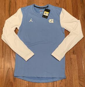 Men's Nike Jordan UNC Heathered North Carolina Tar Heels L/S Shirt Small NWT $70