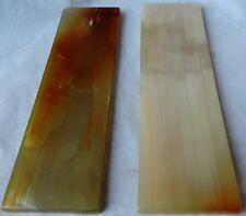 2 Ox Color Horn Scales 5x1.5x0.17 Knifemaking Horn Handles Door Handles Razors