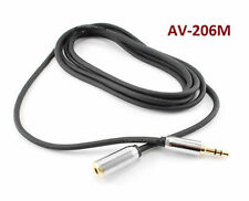 """6ft Mobile-Type Stereo 3.5mm (1/8"""") TRS Male to Female Audio Extension Cable"""