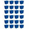 Sterilite 18 Gallon Heavy Duty Stackable Storage Tote, Blue Morpho (24 Pack)