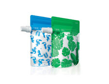 Cherub Baby Reusable Food Pouches  Blue & Green Special Edition 10 pk
