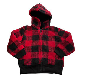 The Children's Place Boys' Toddler Buffalo Plaid Sherpa Cozy Zip Up Hoodie 3T