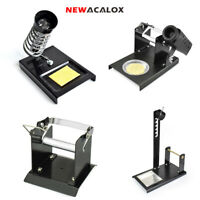 NEWACALOX Soldering Iron Stand Metal Base Welding Wire Holder + Cleaning Sponge