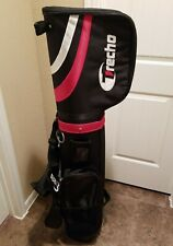 TRECHO GOLF 3 IN 1 GOLF CLUB TRAVEL BAG~CARRY BAG & CART  BAG WITH WHEELS~BLACK~