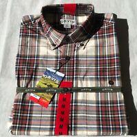 Orvis Men's Tartan Twill Long Sleeve Shirt - Medium, color Khaki