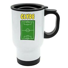 Clyde -Football Image Named Travel Mug Reuse- Personalised Gift For -  Hobby