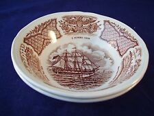 Vintage Alfred Meakin Fair Winds 2 Berry Bowls Staffordshire England NY Harbor