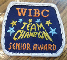 Senior League Wibc Team Champion Vintage Uniform Patch