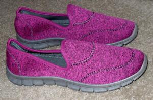 Damart burgundy leisure shoes size UK 5E (wide fit)