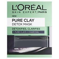 Nueva Máscara de Arcilla Detox puro - 50 ML, carbón de cáscara de Cara Negra Piel Loreal Oréal