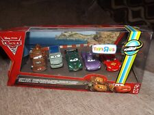 LONDON CHASE CARS 2 DISNEY PIXAR  DIECAST 5 CAR SET PACK 2010 BRAND NEW RARE