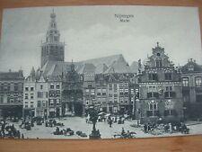VINTAGE POSTCARD BUSY MARKET PLACE - NIJMEGEN - NETHERLANDS