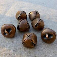 15 pcs - Big 20 mm copper tone jingle bells Charm Christmas Pendant