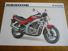 SUZUKI GS 500E MOTORBIKE BROCHURE,  MAY 1996.  POST FREE (UK)
