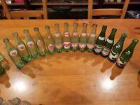VINTAGE DR PEPPER 10 2 4, Mountain Dew, RC Cola Green Glass Bottles 10 oz