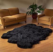BLACK big GENUINE SEXTO 6 Pelt SHEEPSKIN RUG sheep skin SIXTO z14 - natural hair
